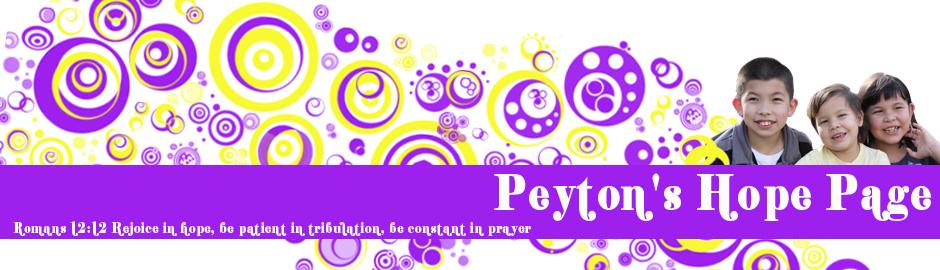 Hope4Peyton header image